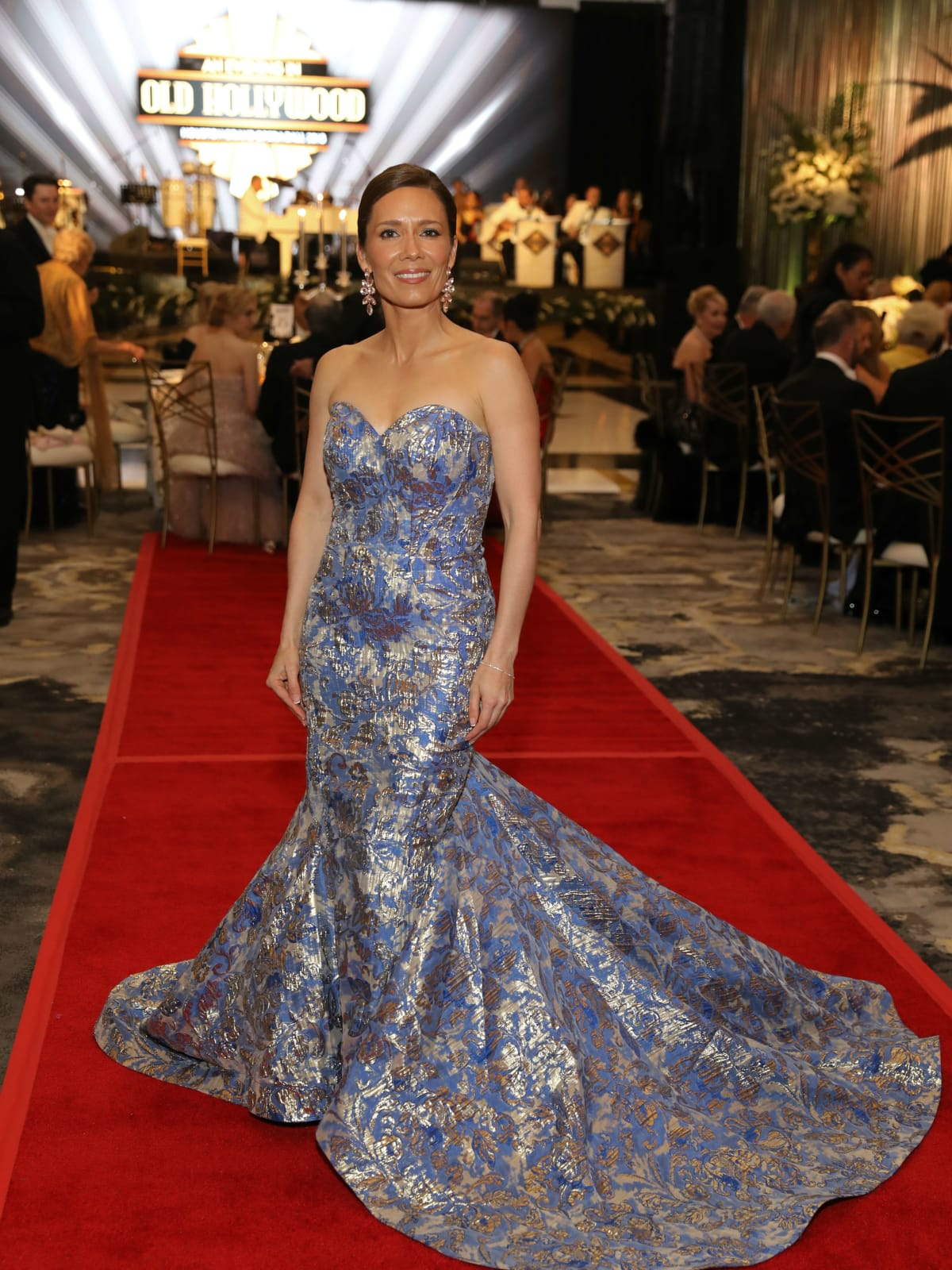 Opera Ball gowns Diana Trevino in Narciso Rodriguez