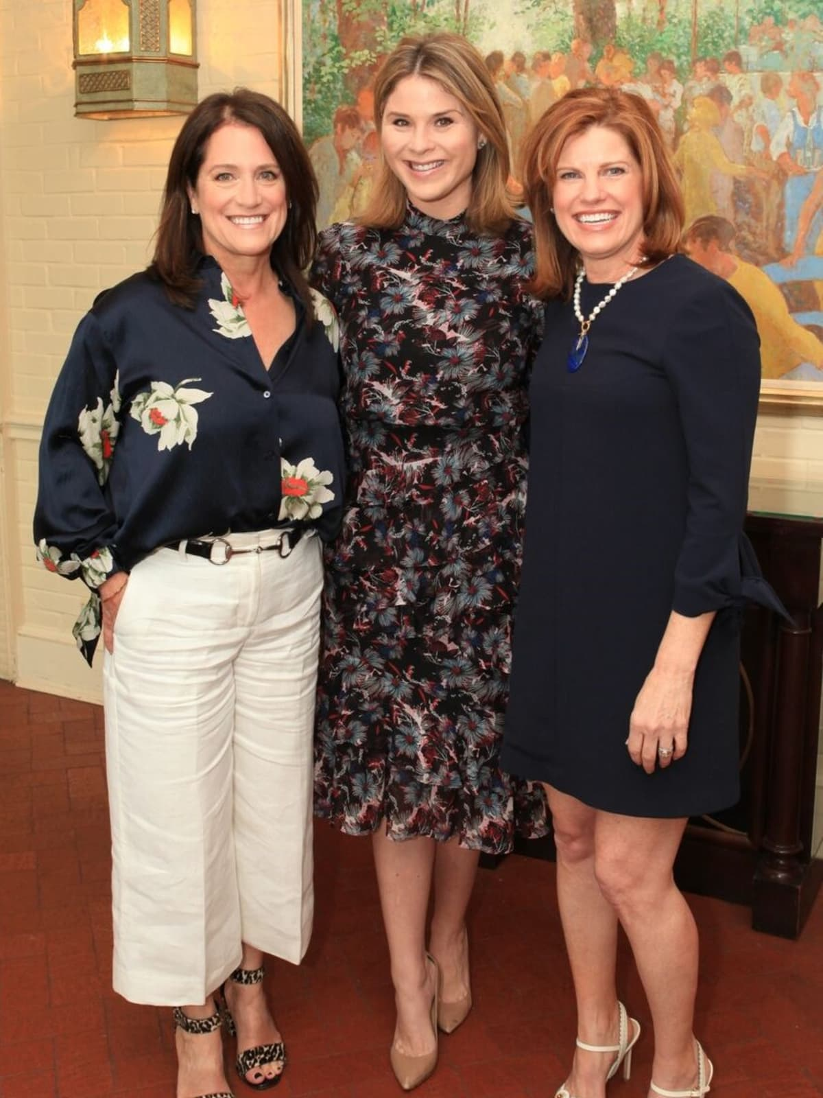 PCHPS luncheon 2018, Tish Key, Luncheon chair; Jenna Bush Hager, featured speaker; Lucinda Buford, PCHPS president
