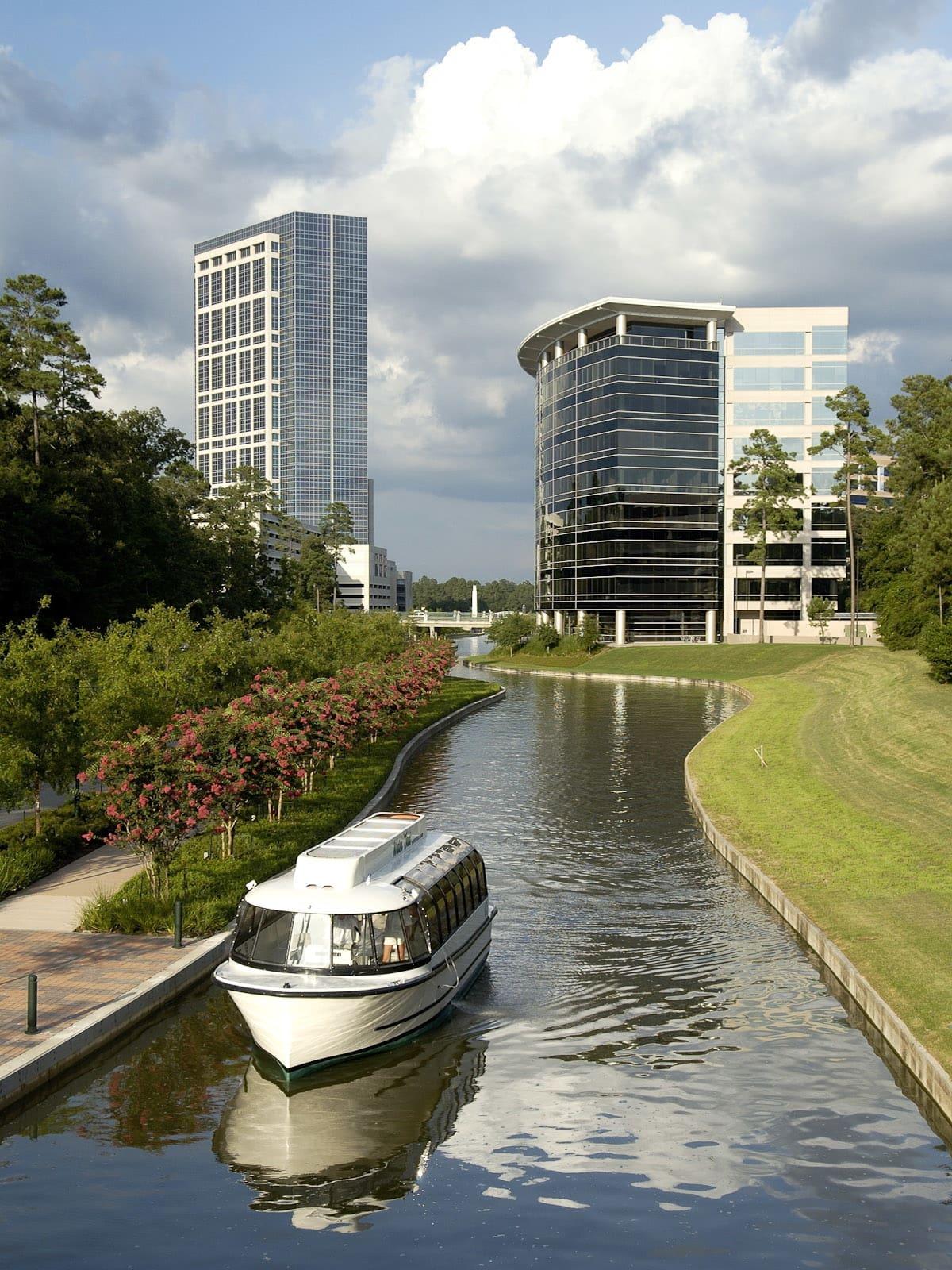 News_Ralph Bivins_master-planned communities_The Woodlands_waterway