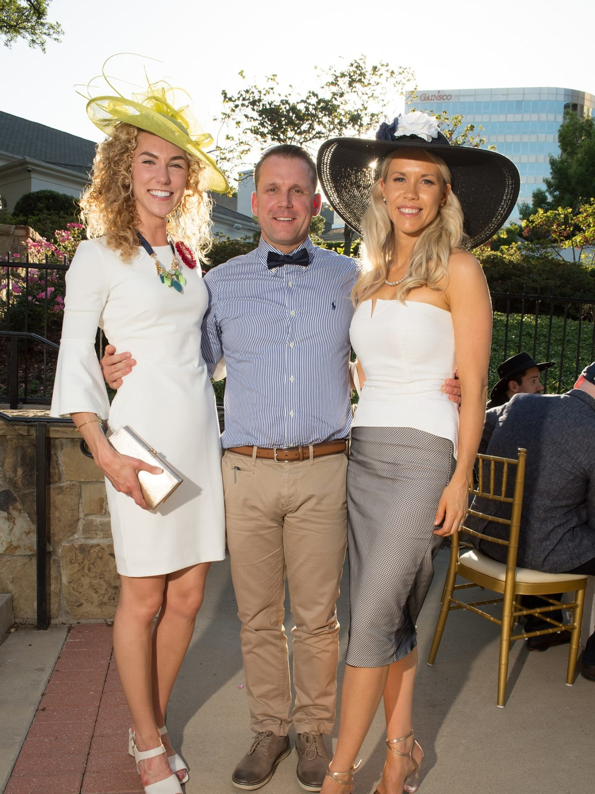 Day at the Races 2018, John and Sarah Schiller and Emily Bouyer
