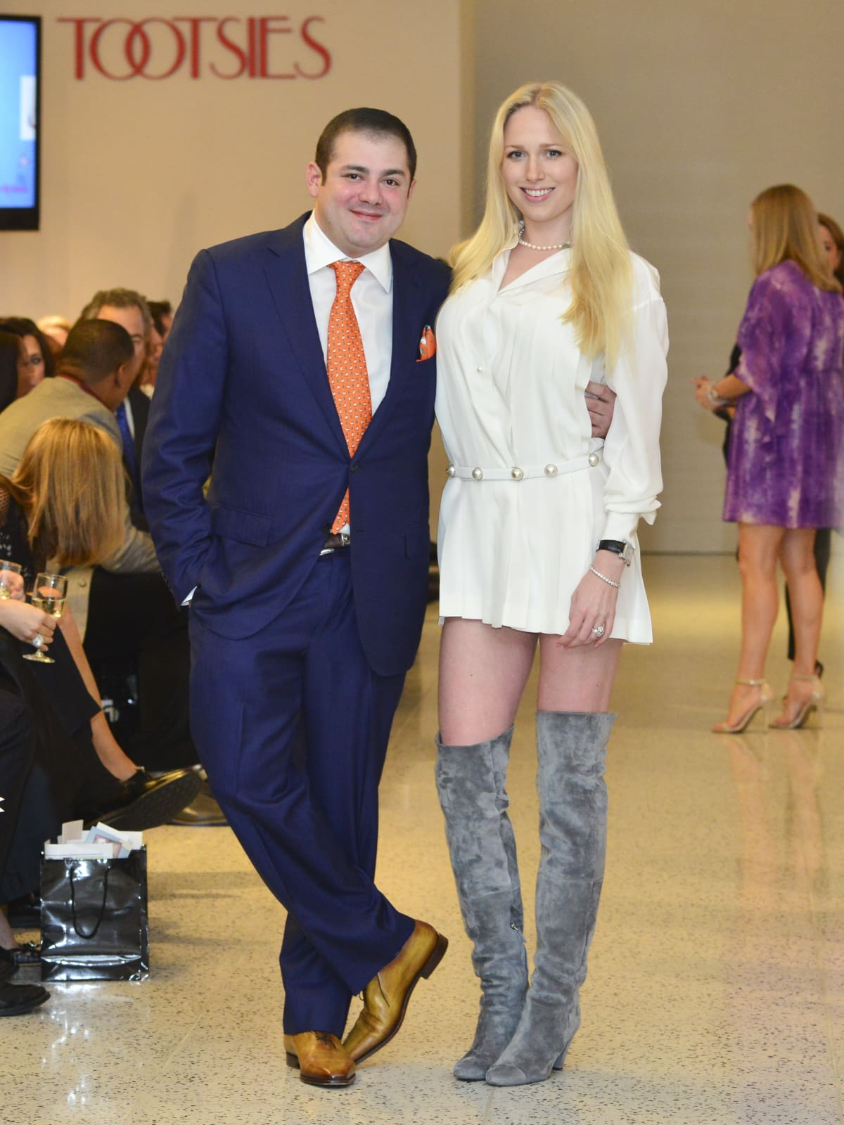 16 Phillip Sarofim and Lori Krohn at the Dec My Room Fashion Show February 2014