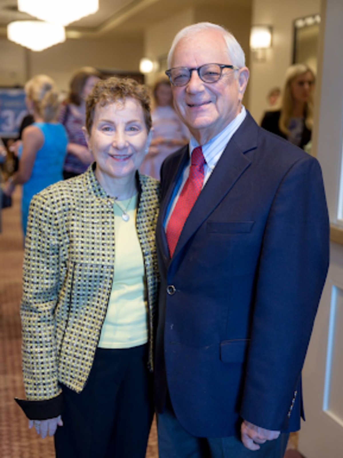 The Center luncheon Mitzi Shure and former CEO of The Center, Jerry Wische