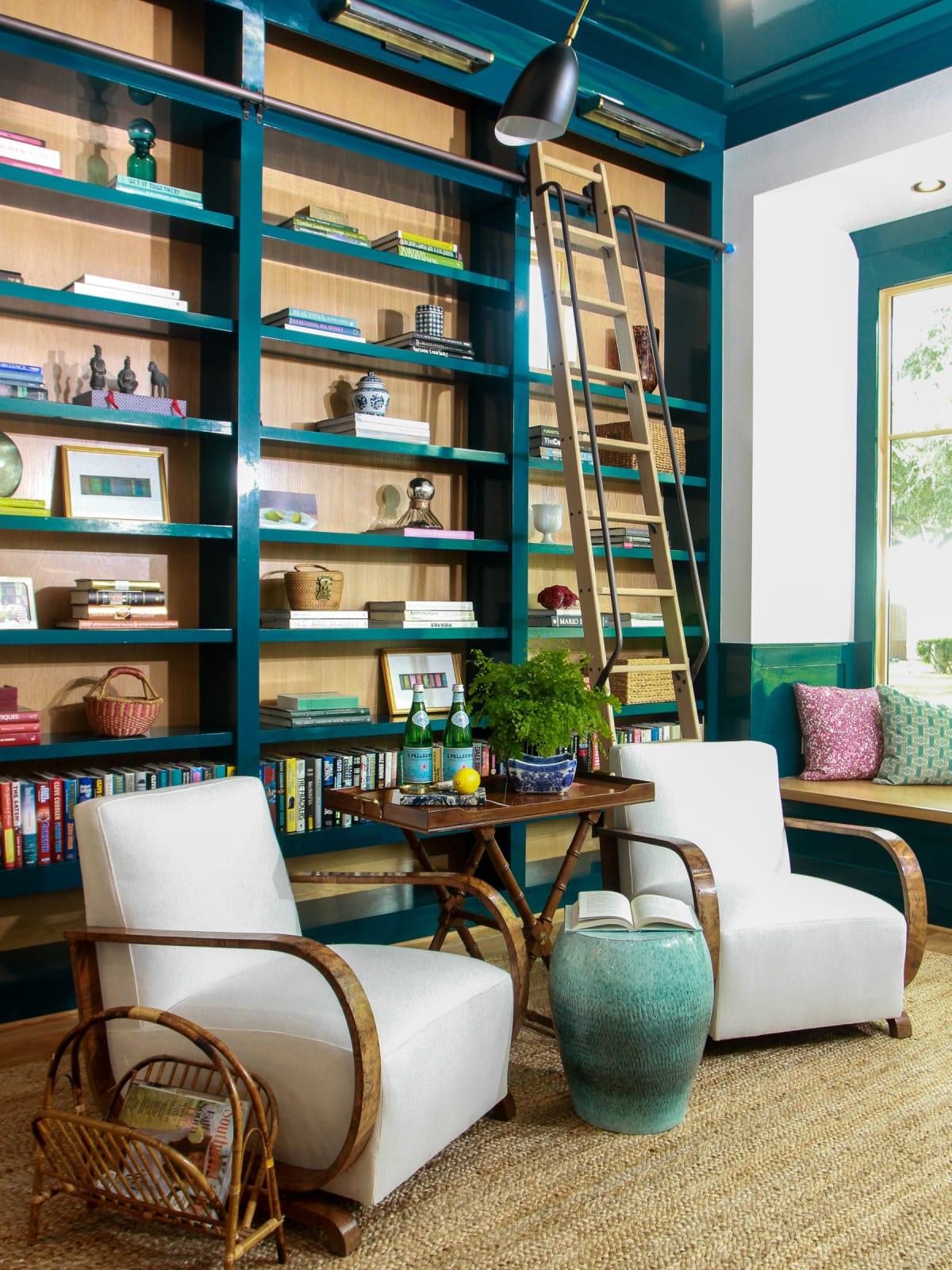Braes Southern Living Showcase Home barbara bush interior library