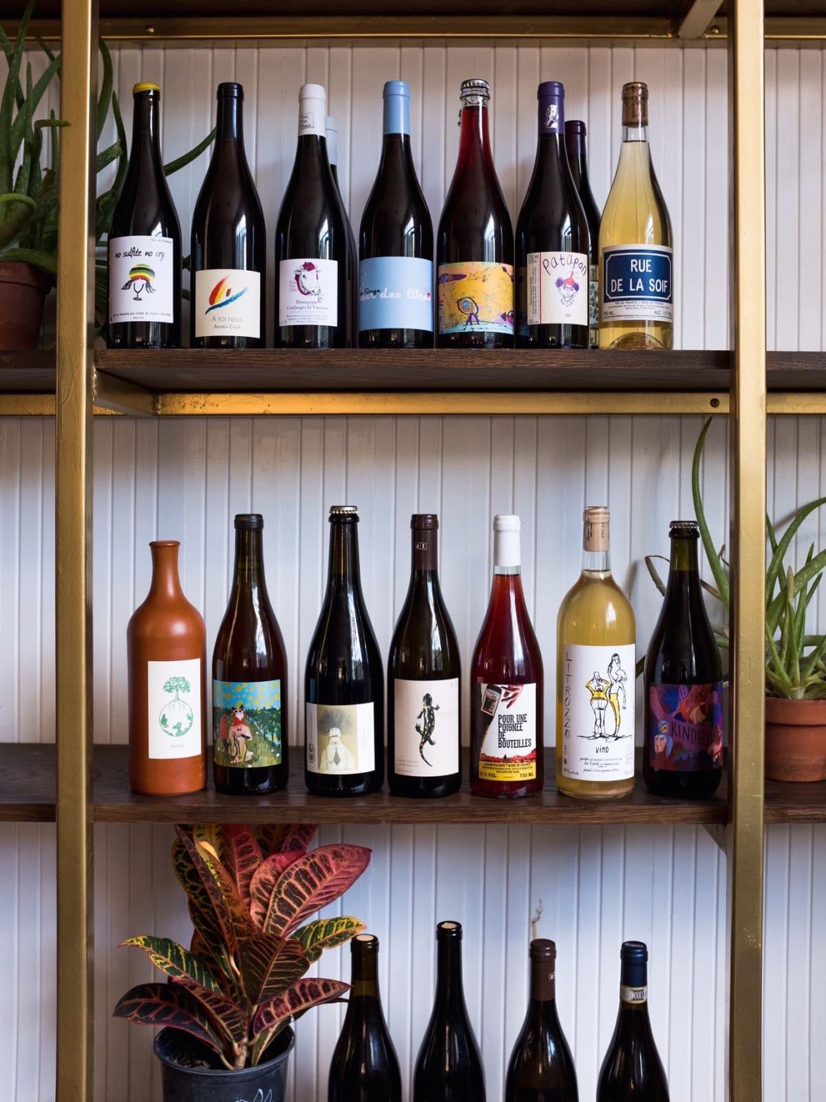 Light Years wine bar shelf