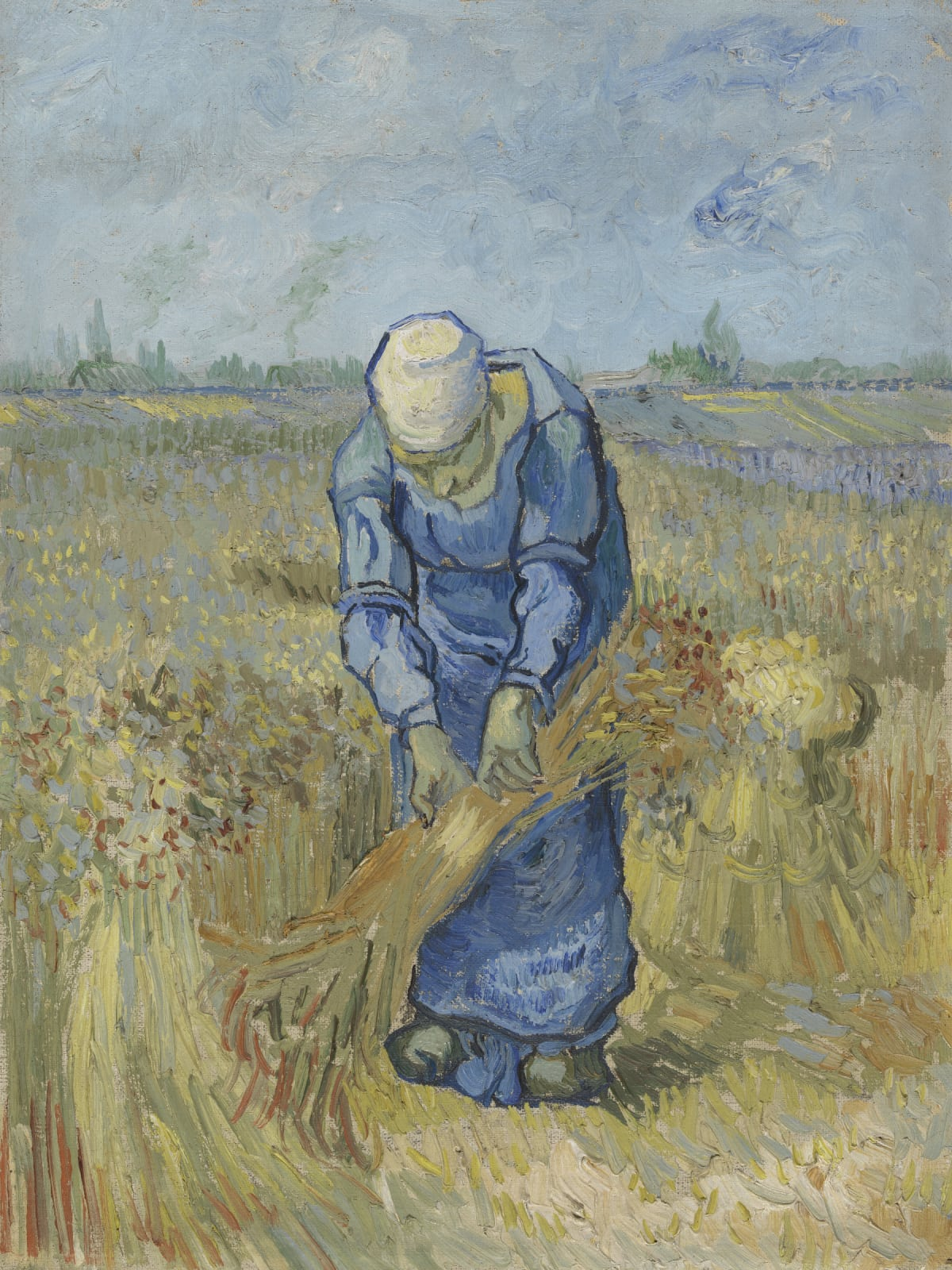 MFAH:Vincent van Gogh: His Life in Art, Peasant Woman Binding Sheaves (after Millet)
