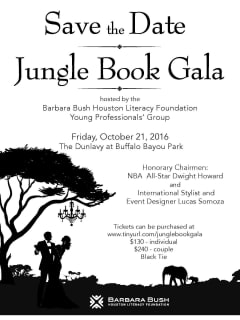 The Barbara Bush Houston Literacy Foundation presents Jungle Book Gala