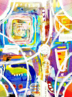 Bisong Art Gallery presents Solo Abstract Exhibition: Rhonda Radford Adams