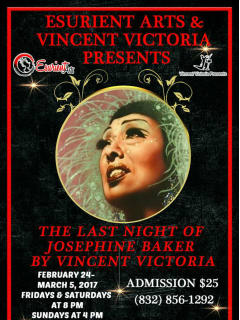 Esurient Arts and Vincent Victoria present <i>The Last Night of Josephine Baker</i>