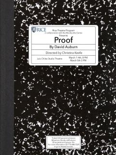 Rice University Theater presents David Auburn: <i>Proof</i>