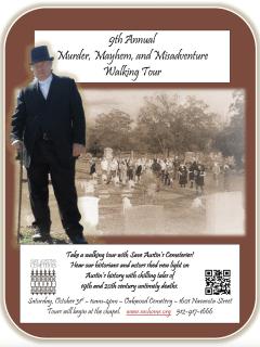 9th Annual Murder, Mayhem & Misadventure Walking Tour
