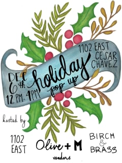 Olive + M presents Holiday Pop Up Shop