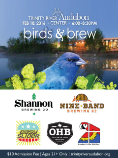 Trinity River Audubon Center presents Birds & Brews