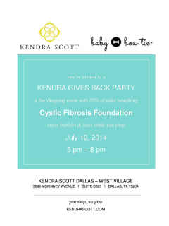 Kendra Gives Back Party