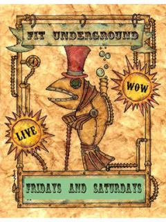 Festival of Independent Theatres presents FIT Underground
