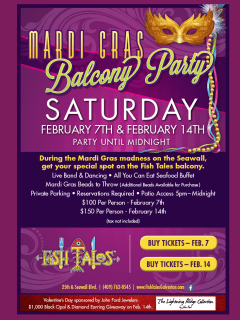 Fish Tales Mardi Gras Balcony Party