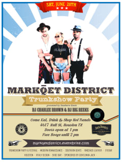 Southern Gents Presents 2015 Markqet District Trunkshow Party