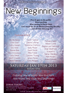 Art opening reception: New Beginnings