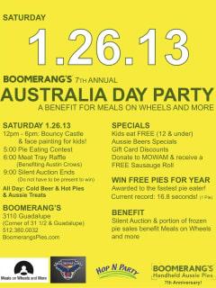 Austin Photo Set: Events_AustraliaDay_Boomerangs_Jan2013