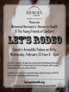 Memorial Hermann's Heroes in Health & The Young Friends of CanCare Rodeo Kick-off Happy Hour