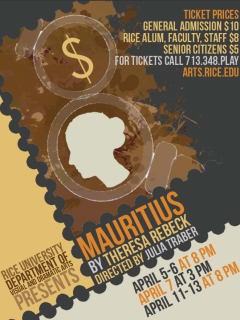 Rice Theatre Program presents Mauritius by Theresa Rebeck