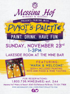 Pinot's Palette Wine and Painting Party