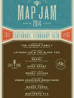 poster of KUTX MapJam 2014 february 15