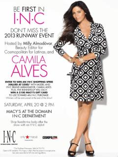 Camila Alves fashion show at Macy's at the Domain