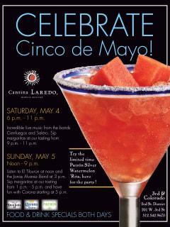Cantina Laredo Cinco de Mayo margaritas