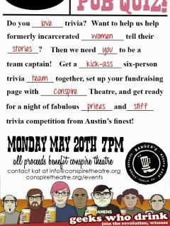 Conspire Theatre Pub Quiz poster