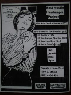 East Austin Burger Project poster
