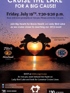 Big Hearts for Brave Heart boat cruise flyer