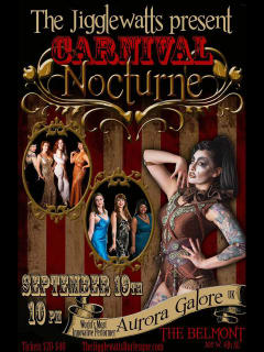 The Jigglewatts Burlesque Revue presents Carnival Nocturne
