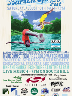 Barton Springs Fest Day poster for 2013