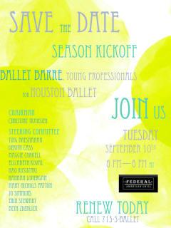 Ballet Barre Young Professionals 2013-14 Season Kick-off