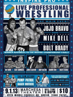 Inspire Pro wrestling Wired For War talent card