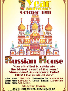 Russian House one year anniversary poster