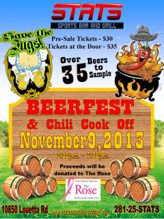 First Annual Beer Fest & Charity Chili Cook Off benefiting the Rose Foundation