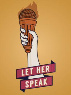 logo for Let Her Speak supporting Wendy Davis