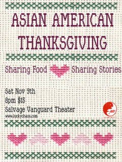 poster for LuckyChaos Theater's An Asian American Thanksgiving