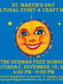 flyer for St. Martin's Day event at German Free School