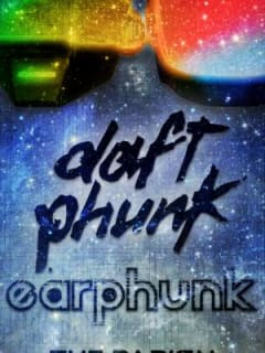 poster for Parish 10th anniversary party with Earphunk daft phunk show
