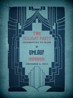 flyer for YWA Young Women's Alliance Holiday Party at Umlauf