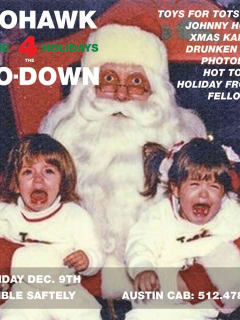 poster of Mohawk Holiday Ho-Down with santa