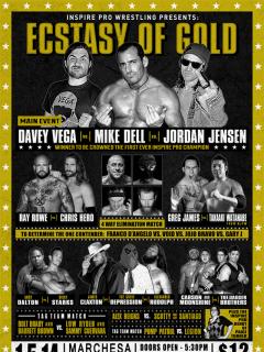 poster for Inspire Pro Wrestling show Ecstasy of Gold