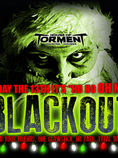 poster for Blackout at House of Torment at Highland Mall