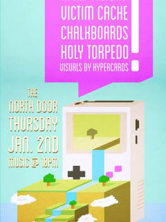poster for TX Chip chiptune collective show at North Door