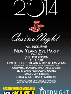 flyer for new year's eve at the goodnight