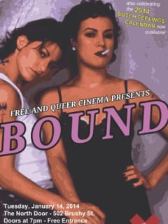 poster for film Bound for Free and Queer Cinema screening