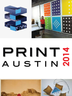 poster image for PrintAustin 2014 art extravaganza