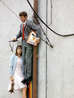 still from Jean-Luc Godard film Pierrot Le Fou